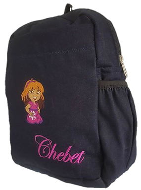 Dora Denim bag with name print