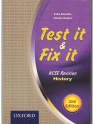 Test It And Fix It KCSE Revision History