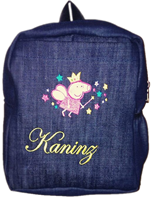 Peppa Pig denim bag with name print