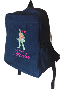 Turtle Ninja Denim bag with name print