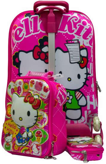 Hello Kitty 3in1 pink Trolley Bag(Non-Removable)