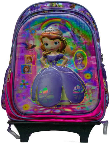 Sophia 3D Removable Trolley Bag